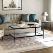 celipu modern rectangle coffee table Glass  Retail 341 99 matt black