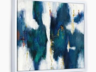 Designart  Blue Glam Texture I  Contemporary Framed Canvas   Blue  Retail 107 49