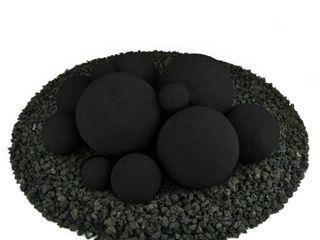 Midnight Black  Regular ceramic fire balls 3 boxes black