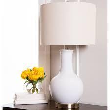 abbyson gourd white ceramic 29 inch table lamp