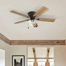 The Gray Barn East Cowes 52 inch Coastal Indoor lED Ceiling Fan with Pull Chains 5 Reversible Blades  Retail 153 99 Bronze