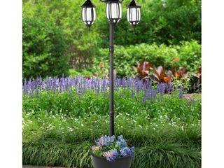 Madison Solar lamp Post and Planter  Retail 199 99