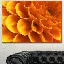 designart yellow abstract floral design canvas so 4 pc