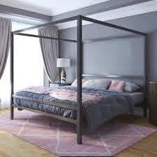 Avenue Greene Gia Metal Canopy King Bed Retail 362 99 gunmetal grey