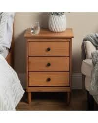 Taylor   Olive Bullrushes 3 drawer Solid Wood Nightstand  Retail 106 49 tan