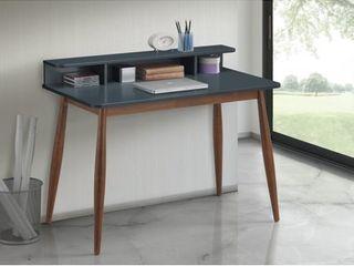 Roskilde Gray Blue Storage Wood Office Desk  Retail 156 49