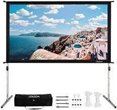 leadzm manual pull down viewing screen white 92 inch