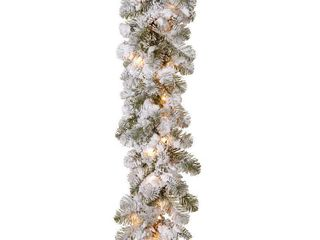 9 ft  Snowy Camden Garland with Clear lights
