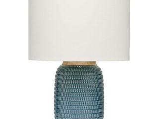 Alden Decor Graham Table lamp in Blue Ceramic  Retail 178 99