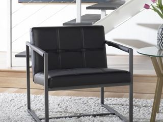 Studio Designs Home Camber Mid Century Modern Accent Chair with Metal Frame and Bonded leather  Retail 205 49