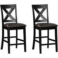 simple living cross back counter height chairs set of 2 black