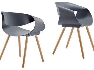 Best Master Furniture Mid Century and Modern Side Chairs  Set of 2  Retail 178 99