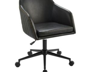 Carson Carrington Quilted Upholstered Swivel Office Chair  Retail 208 49