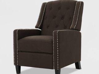 Izidro Tufted Fabric Recliner by Christopher Knight Home  Retail 322 99