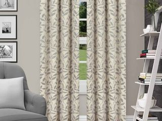 Impressions Grafton leaves Textured Blackout 2 Panel Curtain Set with Grommet Top Header