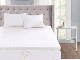 3 Inch King Memory Foam Mattress Topper With Removable Bamboo Cover  Retail 134 99