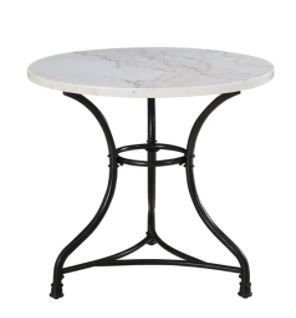 Callao 34 Inch Round Marble Bistro Table by Greyson living   Black  Retail 278 49