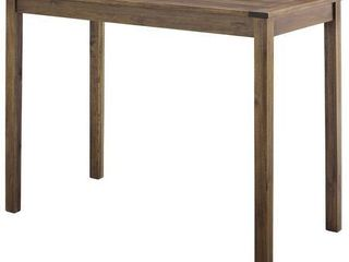 Acacia Wood Counter Height Table   Dark Brown
