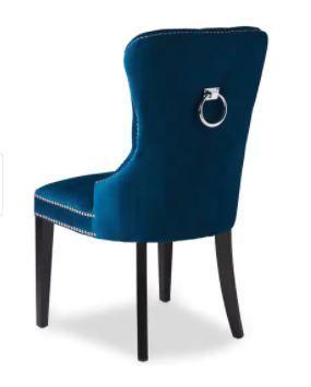 Abbyson Versailles Blue Tufted Dining Chair  Retail 499 99