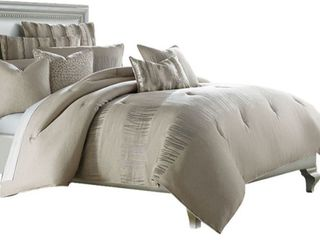 Captiva 10 Piece Neutral King Comforter Set  Retail 629 00