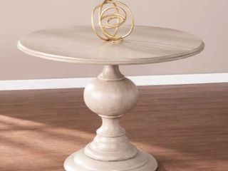 The Gray Barn Brandison Traditional Round Wood Dining Table  Base Only  Retail 434 99