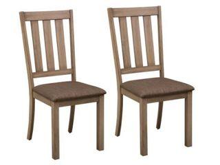 The Gray Barn Abbey Field Sandstone Slat Back Side Chair  Set of 2    Retail 224 99