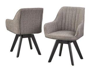 lifestorey Phyllis Swivel Chair  Set of 2  Retail 273 99