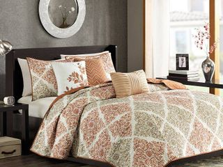 Home Essence Arbor 6 Piece Quilted Full Queen Coverlet Set