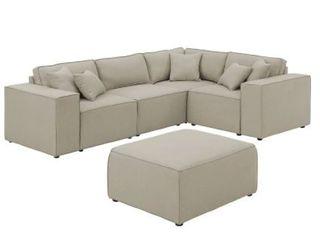 Incomplete  2 Pieces of Sofa  Copper Grove Doetinchem Beige linen Sofa