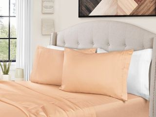1500 Thread Count Egyptian Cotton Bedding Sheets  amp  Pillowcases  4 Piece Sheet Set by Impressions   King