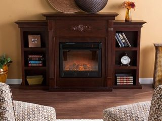 Incomplete  Box 2 of 2  Griffin Fireplace with Bookcases  Espresso