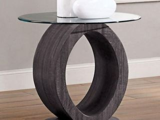 Strick   Bolton Totte Contemporary Grey O shaped End Table   Retail 296 99