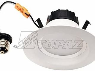 2 Pack lED 4  Retrofit Trim  TOPAZ  3000k  620 lumens  Dimmable