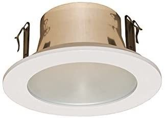 4in line Voltage Trim with Frosted lens  White
