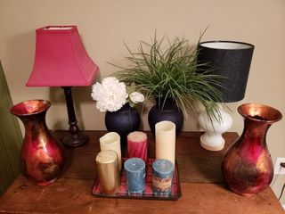 Misc Decor   lamps  Candles  Vases