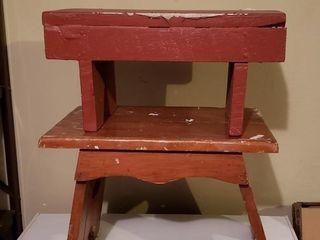 Vintage Stepbenches   Pair