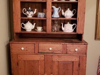 Oak Two Piece Stepback Cupboard
