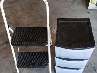 Stepstool   Sterilite Rolling Storage
