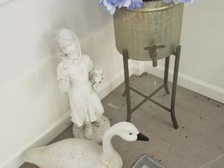 Vintage Water Dispensor on Stand   Statue   Swan