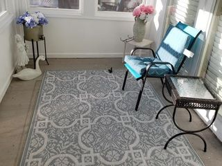 Patterned Patio Rug