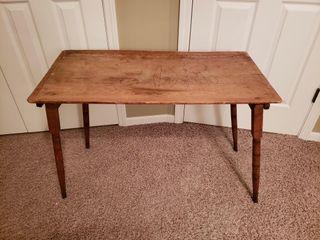 Antique Oak Folding Sewing Table
