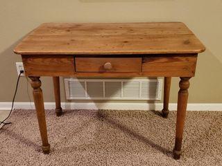 Antique Oak Single Drawer Console Table