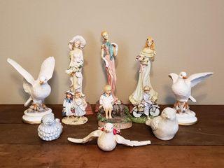 Decor   Ceramic Doves  Figuirines