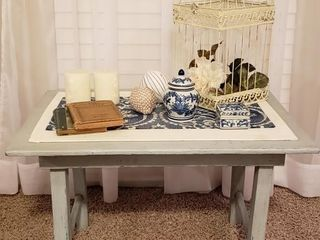 Distressed Side Table   Decor   Bird Cage