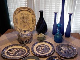 Assorted Blue China   Decor