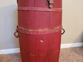 Antique Banded Water   Ice Barrel