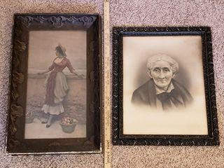 Ornately Framed Antique Pictures