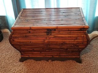 Bamboo Chest with Contents