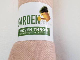 Garden Party Woven Throw 50  x 60
