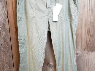 level 99   Vinnie Relaxed linen Straight leg Pant   Olive   Size 8   Stitch Fix